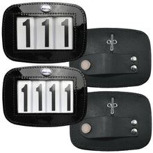 Load image into Gallery viewer, Patent Leather Bridle Number Holders (Pair) - 4 digit set
