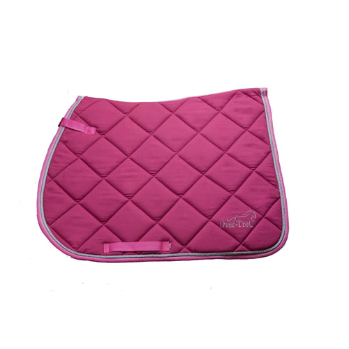 Over-Trot Pink Performance Saddle Pad - All Purpose-Over-Trot-Tacklet