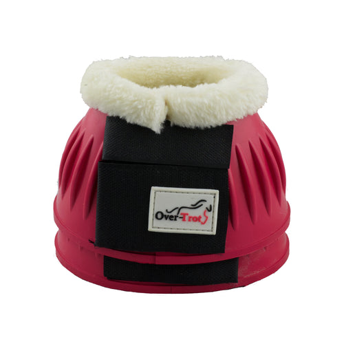 Pink Rubber Bell Boots with Fleece - Factory Seconds