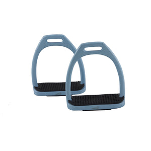 Powder Blue Lightweight Aluminium Coloured Stirrups