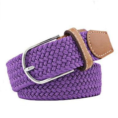 Purple Elastic Braided Belt