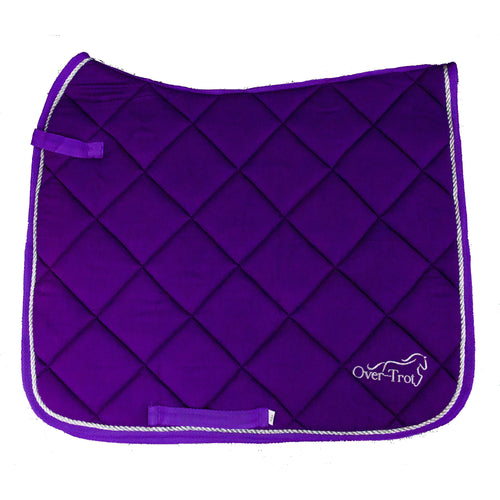 Over-Trot Purple Performance Saddle Pad - Dressage-Over-Trot-Tacklet