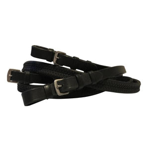 Leather & Rubber Grip Reins