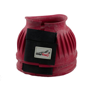 Rose Red Rubber Bell Boots - Factory Seconds