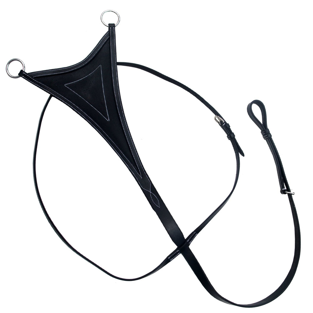 Running Martingale with Soft Leather Bib