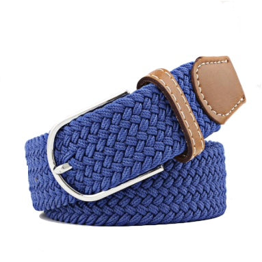 Royal Blue Elastic Braided Belt