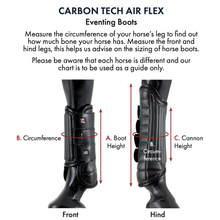 Load image into Gallery viewer, Carbon Tech Air Flex Eventing Boots - Hind