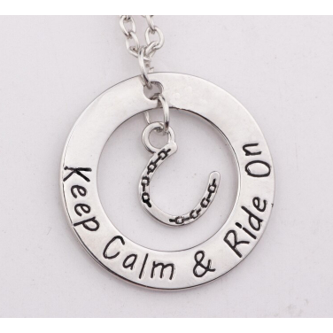 Keep Calm and Ride On Necklace