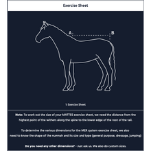 Load image into Gallery viewer, Custom Order - Design your own E.A Mattes Exercise-Rug with rider cut out