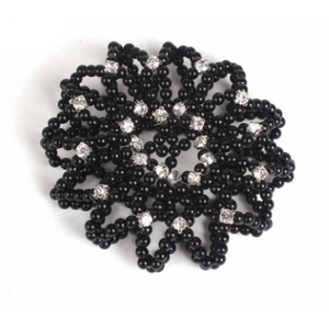 Black Pearl Hair Net with diamontes