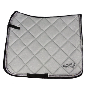 Over-Trot Silver Glitter Performance Saddle Pad - Dressage-Over-Trot-Tacklet