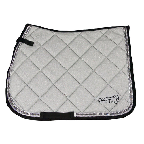 Over-Trot Silver Glitter Performance Saddle Pad - All Purpose-Over-Trot-Tacklet