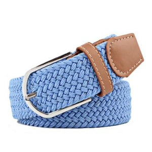 Sky Blue Elastic Braided Belt