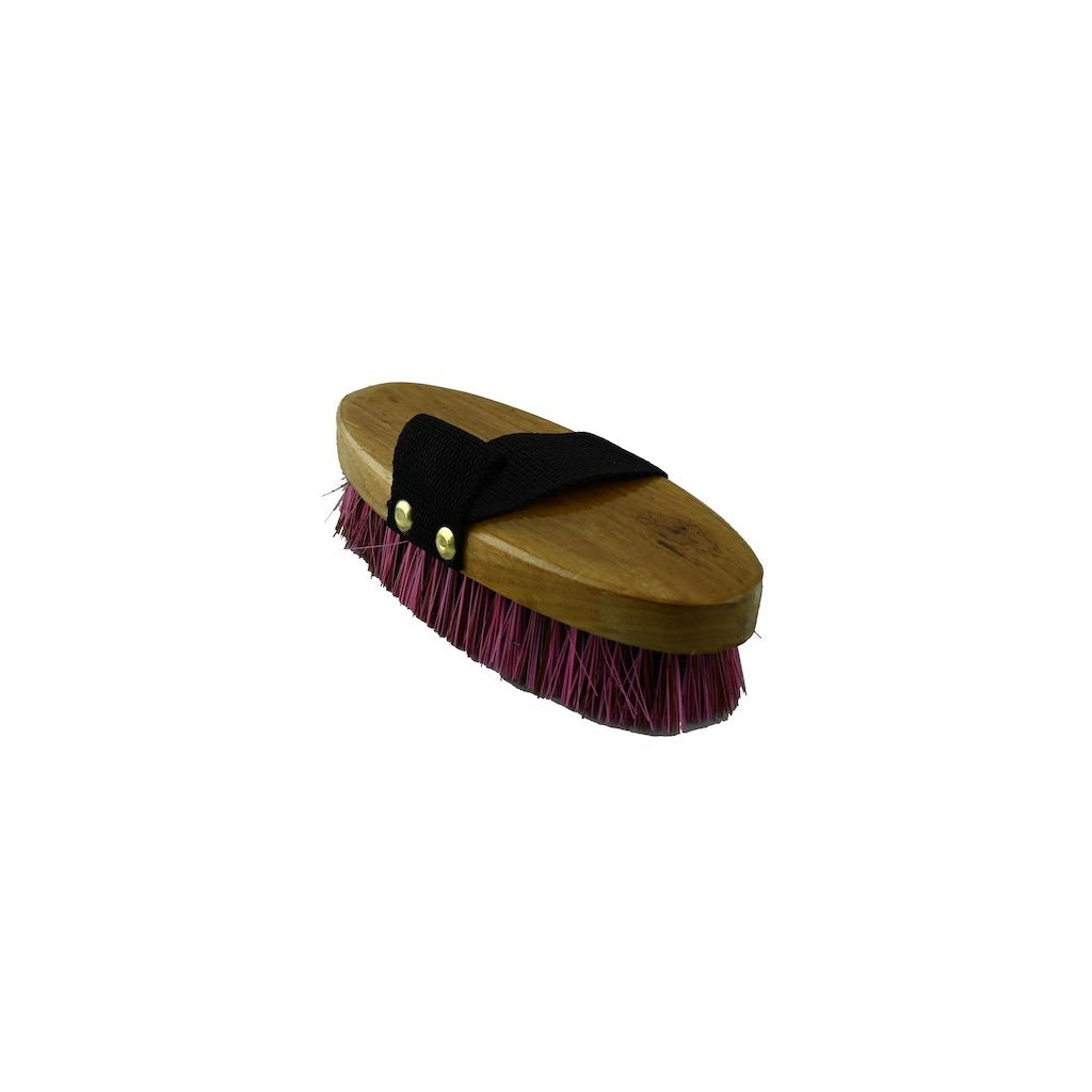Pink and Black Wooden Small Body Brush
