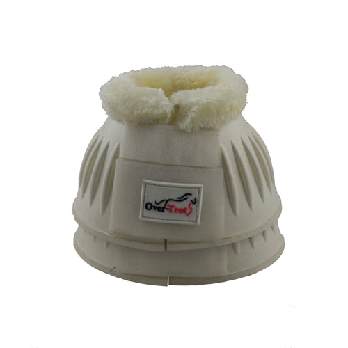 White Rubber Bell Boots with Fleece - Factory Seconds