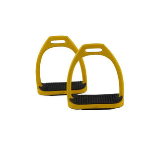 Over-trot Lightweight Aluminium Coloured Stirrups