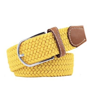 Yellow Elastic Braided Belt