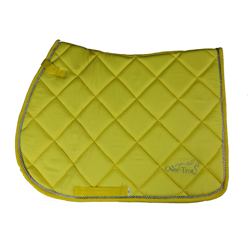 Over-Trot Yellow Performance Saddle Pad - All Purpose-Over-Trot-Tacklet