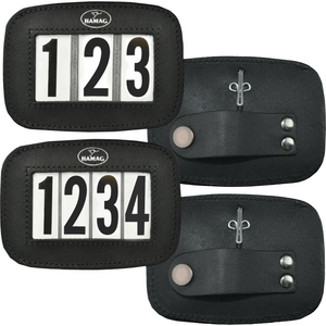 Leather Bridle Number Holders (Pair) - 4 digit set