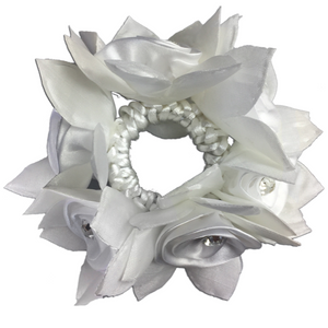 Rose Hair Scrunchie with Crystals-Hamag-Tacklet