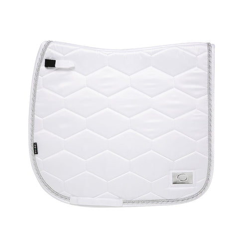 White - Tessuto Satin - Bamboo Cotton Dressage Pad