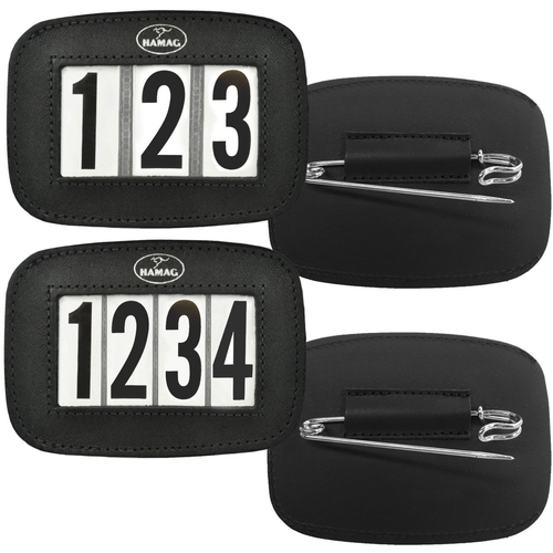 Hamag™ Leather Saddle Cloth Number Holders (Pair) - 4 Digit