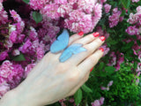 Sky Blue Butterfly Ring for everyone who loves Butterflies