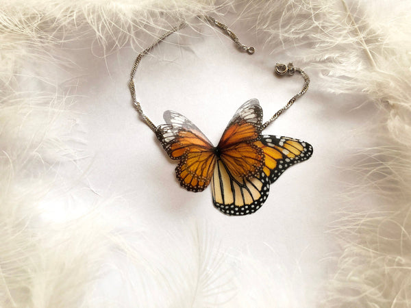 Monarch Butterfly Anklet Bracelet with Wings