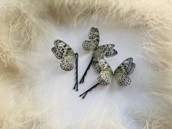 Set of 3 Extraordinary Butterfly hairpins for Creative hairstyle