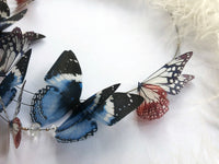 "Butterfly Necklace with ""Ocean & Coral"" Silk Butterflies for those who love Butterflies"