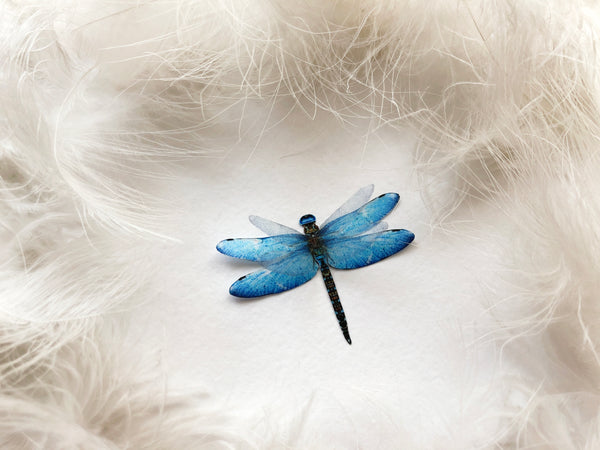 3D Silk Something Blue Dragonflies for Wedding Boutonniere