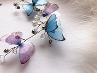 "Butterfly Wedding Halo ""WhisperWind"""