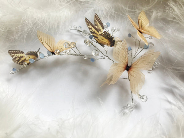 Ivory Butterfly Hairpiece
