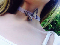Swallowtail Butterfly Tattoo Choker