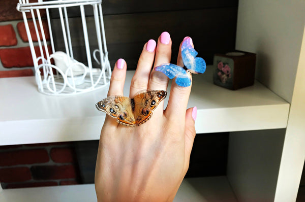 "Ring with ""Gentle Touch"" Butterfly"