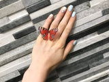 Peacock Butterfly Ring