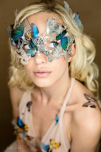 Boho Chic Butterfly Mask