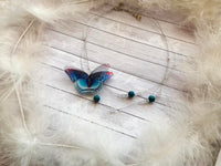 Asymmetrical Necklace with Butterfly