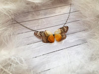 Sunny Butterfly Necklace on Silver Chain