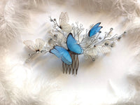 Fairytale Halo with Sapphire Butterfly