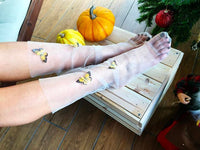 "Tulle Socks with 4 ""Sunshine"" Butterflies"
