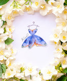 3D Fashion Illustration with Silk Butterfly Dress for Home Decor