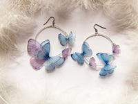 "Dreamy Hoops Earrings Butterflies from ""Gracia"" Set for Boho Chic Look on Party"