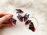 Vanessa Butterfly Hoop Earrings for everyone who loves Butterflies