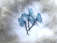 Light Blue Butterfly Hairpins for Unique Hairstyle