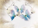 Silk Orchid Butterfly Earrings