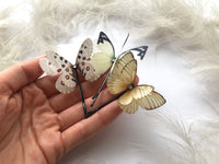 Set of 3 Silk Butterfly Hair Pins