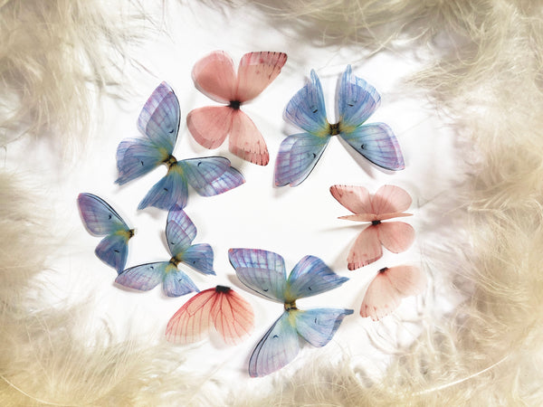 Orchid and Sakura Blooming Silk Butterflies Kaleidoscope for Fra + Special Gift