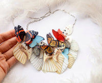 Cocktail Necklace with Magic Butterflies and special extra gift for everyone who loves Butterflies