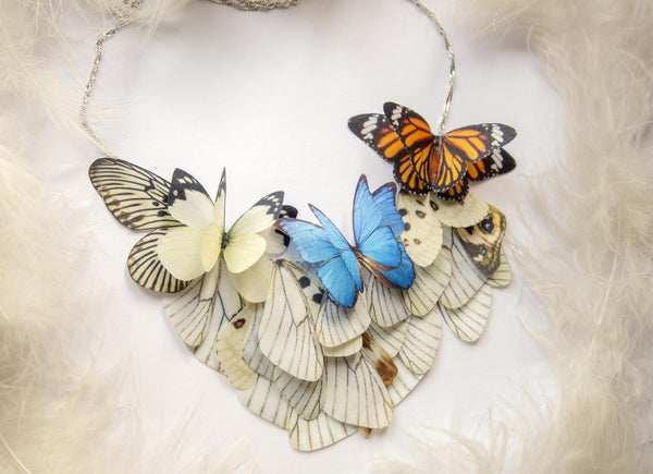 Boho Chic Butterfly Necklace with extra gift